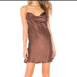 Capulet silk rae mini dress in mink
